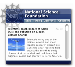 NSF Information Widget Screenshot